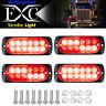 4x 18 Mode 12LED Car Truck Warning Emergency Flashing Lamp Strobe Light Red LED