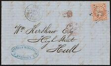 1864 - FRANCIA LETTERA PER HULL (GRAN BRETAGNA) AFFR. CON NAPOLEONE 40C.