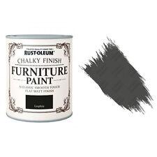 Rust-Oleum Craie Crayeux Meuble Peinture Usé Chic 750ml Graphite Mat