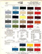 1975 CHEVROLET CHEVELLE MALIBU LAGUNA F78x14 TIRE PRESSURE SPECIFICATIONS DECAL