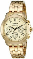 Invicta Womens Specialty Analog Display Swiss Quartz Gold-Plated Watch
