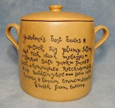 Vintage Moira Pottery Co. Pot / Crock Made In England - Grandma's Best Beans