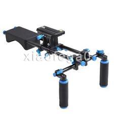 Camera Camcorder DSLR Stabilizer Shoulder Mount Support Rig Kit w/ Dual Handgrip