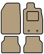 SAAB 9-3 CONVERTIBLE 2003-2011 TAILORED BEIGE CAR MATS WITH BLACK TRIM