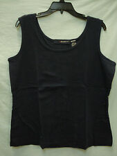 NWOT Women's denim 24/7 Cotton Tank Top Size Large Dark Blue #841A