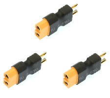 Apex RC Products No Wire Male Ultra T Plug -> Female XT60 Adapter - 3 Pack #1252