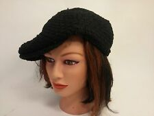 Black Dekko Newsboy Cap Basket Weave Pattern 7816 Fashion Hat
