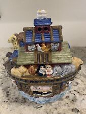 Noah's Ark Cookie Jar Bico China Colorful Art Lots Of Animals To Identify, New