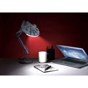 Lizenzierte Star Wars USB Schreibtischlampe Posable Desk Light Millennium Falcon