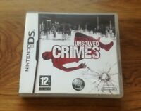 UNSOLVED CRIMES Nintendo DS NDS 2DS DSL DSI 3DS .Free UK Postage