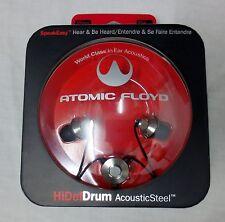 Atomic Floyd HiDefDrum Acoustic Steel in Ear Headphones - New