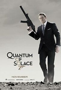QUANTUM OF SOLACE (2008) ORIGINAL ADVANCE B MOVIE POSTER  -  ROLLED  -  2-SIDED