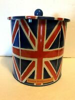 "Emma Bridgewater Union Jack Tin & Lid 7x7"" Biscuit Barrel From Elite Gift Boxes"