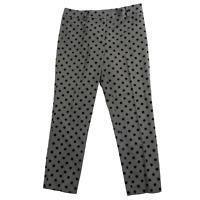 Ann Taylor Gray & Black Polka Dot Signature Pants Women's Petite Size 6P