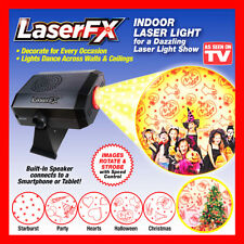 LaserFX Indoor Holiday Images Laser Light Show Strobe Party Christmas Speaker