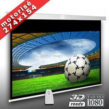 AV-Lux Slender Line 274x154cm 16:9 Full HD 3D Ready Écran Motorisé avec Télecommande - Blanc/Noir (M227E)