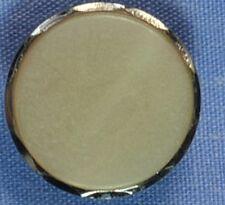 16mm White / Silver Shank Button