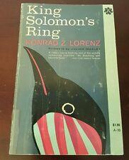 KING SOLOMON'S RING 1961 Vintage Book Softcover Illustrated Konrad Z Lorenz