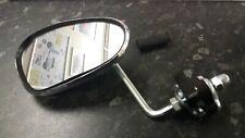Legshield Clamp On Mirror Chrome Kidney Shape Fit's Lambretta & Vespa