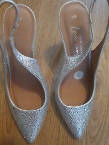 Ladies New Look Silver Sling Back Stilettos UK Size 5