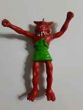 VINTAGE 1982 ARCO OTHER WORLD ACTION FIGURE BENDABLE ZENDO KING MOGS RED ALIEN
