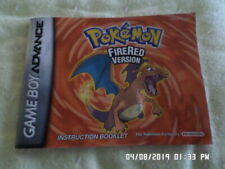 Pokemon FireRed Version (Gameboy Advance) GBA Instruction Manual Only.. NO GAME