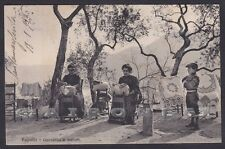 GENOVA RAPALLO 118 PIZZI - MERLETTI - LAVORI FEMMINILI Cartolina viaggiata 1915