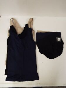 Yummie by Heather Thomson 3 Pack Mid-Rise Briefs-Black//Blue//Mushroom-1X//2X-NWOT