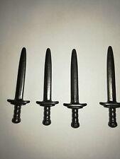 PLAYMOBIL: 4 EPEES POUR CHEVALIER/ SWORD SABRE SABEL SCHWERT ESPADA #191