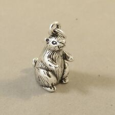 .925 Sterling Silver 3-D PRARIE DOG CHARM NEW Pendant Ground Squirrel 925 AN121