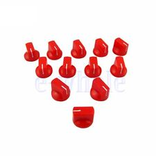 5 Pcs Red Guitar Amp Effect Pedal Knobs Plastic Flat Amplifier Guitar Knobs TW
