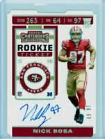 NICK BOSA 2019 Panini Contenders Rookie Ticket Rookie Card RC Auto Autograph /97