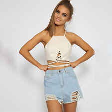 18 Style Summer Women Casual Tank Tops Vest Blouse Sleeveless Crop Top Tee Shirt