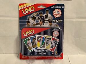"""MLB New York Yankees Special Edition Card Game 112 Custom Yankees Cards """"UNO"""""""