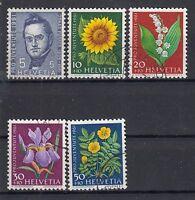 Schweiz Mi.Nr.742-6 pro juventute 1961 gestempelt