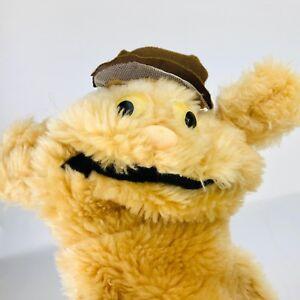 "Vintage Plush Puppet Animal Toy Flat Bush the Fuzzy Dog Bear 28"""