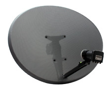Zone 2 Sky Satellite Dish & Quad LNB HD Freesat PVR Plus Hotbird POLSAT 80cm
