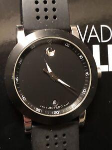 Movado 07.1.14.1145 Black Museum Men's Sport Quartz Watch