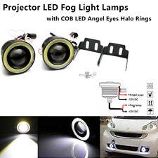 "3"" LED Projector Fog Light Round Amber Angel Eye Halo 4X4 Truck 12V Working Lamp"