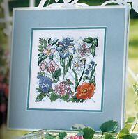 ✔️ FLORAL FAVORITES Motif Sampler Iris Pansy Daisy Cross Stitch Chart + BONUS