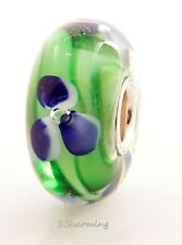 Authentic Trollbeads Glass Blue Flower 61190 (Incl. Orig. Packaging)