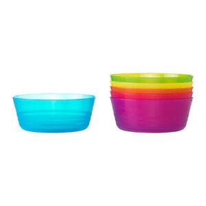 Kalas Plastique Bols Multicolore Paquet De Six Micro-Ondes Sûr Fête Plats