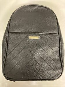 Brand New Nathalie Anderson Black Faux Leather Small Backpack Handbag