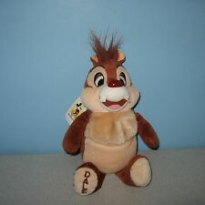 """New 10"""" Disney Parks Chip 'n Dale The Red Nosed Dale Chipmunk Floppy Bean Plush"""