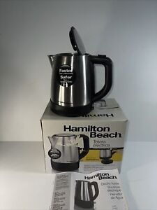 Hamilton Beach 40998Z / 40978 1.0 L Stainless Steel Electric Water Kettle Silver