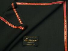 55%POLYESTER 45%WOOL BLACK SHADE SUITING FABRIC 3.5M - MADE IN ENGLAND