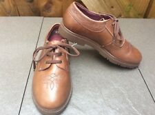 HUSH PUPPIES FOR CHILDREN/LADIES BROWN TAN LACE UP SHOES WORN ONCE ONLY