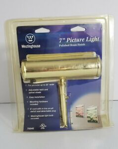 "Westinghouse 7"" Standard Polished Brass Finish Picture Light75040 Unopened 2003"