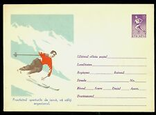 1961 Skiing,Mountains,Practices skiing for better health,Runner,Romania,PS cover