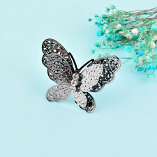 Big Alloy Butterfly Shape With Crystal Adjustable Size Retro Rings For Women